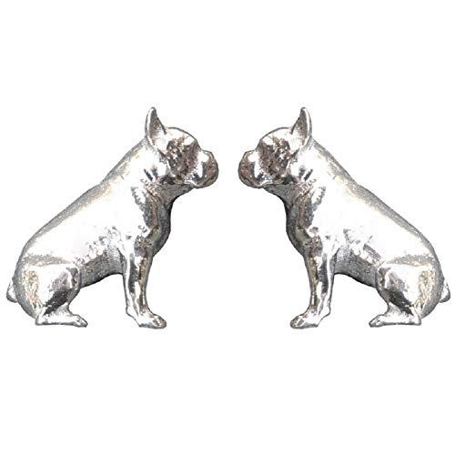 French Bulldog Cufflinks, Bulldog Cufflinks, French Bull Dog Cuff Links, French Bulldog Cuff Links, Dog Cufflinks, Handcast, in Fine Pewter, by William Sturt