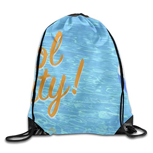 ZHIZIQIU Drawstring Bags Bulk Welcome to Our Pool Drawstring Backpack Bag Shoulder Bags Bag for Adult Size: 4133cm