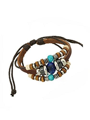 Sunnywill Mehrschichtige Hand Wind Perlen gewebt Armband Vintage Bohemia für Mädchen Frauen Damen (C)