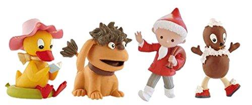 Bullyland Sandmännchen Figuren Set mit 4 Figuren - Sandmännchen, Schnatterinchen, Pittiplatsch und Moppi