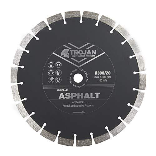Trojan Pro-X - Hoja de diamante asfáltico para cortar asfalto, solera, bloque, arenisca y otros...
