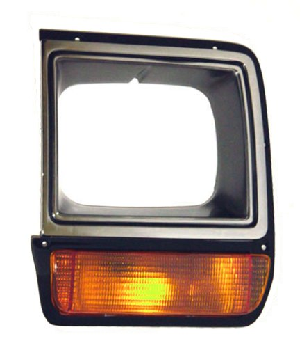 OE Replacement Dodge Pickup/Ramcharger Driver Side Headlight Door, Black with chrome (Partslink Number CH2512135)