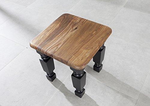 MASSIVMOEBEL24.DE Kolonialart Sheesham Massivmöbel lackiert Hocker Palisander vollmassiv Möbel massiv Holz New Boston #110