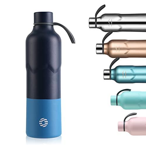 FJbottle Botella de Agua Acero Inoxidable 600ML, Botella Termica Termo Deporte...