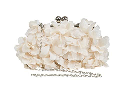 Petal ornamento besando cerradura boda fiesta noche bolsa con cadena mujeres, albaricoque,...
