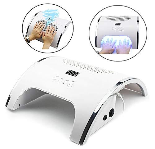 Nagelstofafscheider, 2 in 1 Slimme LED-Manicure Fototherapie-Machine Nagelstofzuiger Manicure-Instrument