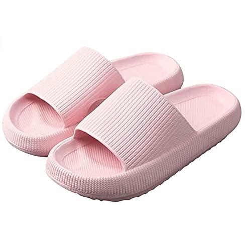 flip flop Travesseiro Slides - Chinelos para mulheres, sem alças, secas rápidas e suaves (Color : Pink, Size : 40/41 EU)