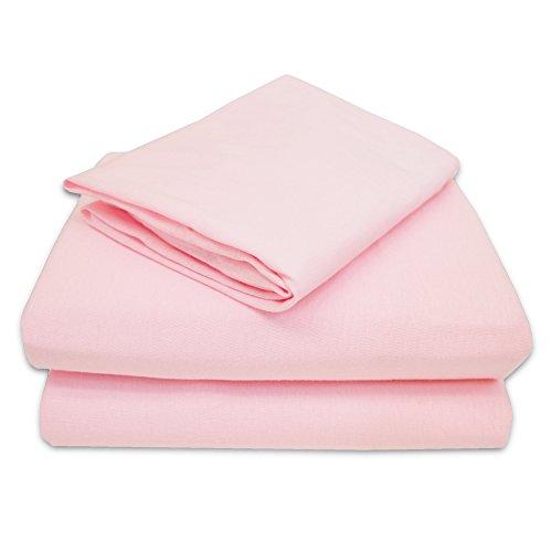 TL Care 100% Jersey Cotton 3-Piece Toddler Sheet Set, Pink
