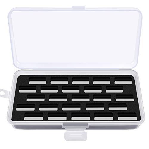 Estuche para bobinas Bernina New 7 y 8 Series Jumbo Bobbins Almacenamiento Caja de Coser, organizador de hilo para 25 bobinas para máquina de coser, color negro (solo caja)