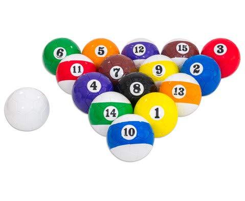 Betzold Sport Fußball Billard, für Aufwärm- oder Teamspiele, 16 Bälle Größe: Gr. 4 (Ø 20-21 cm) in praktischem Tragenetz - Sportunterricht Fußball-Training Kinder Mannschaften