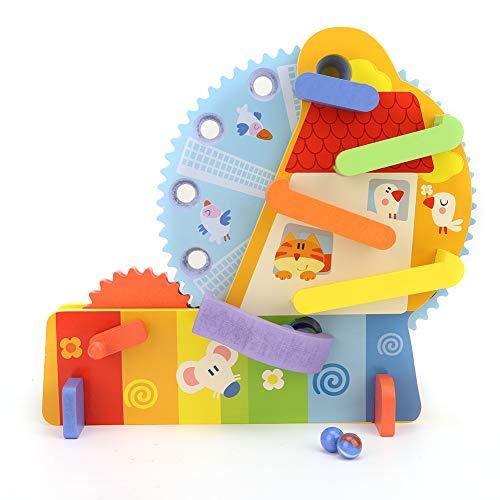 Pssopp Bloques de construcción de Madera para niños, Juguetes educativos tempranos, Noria,...