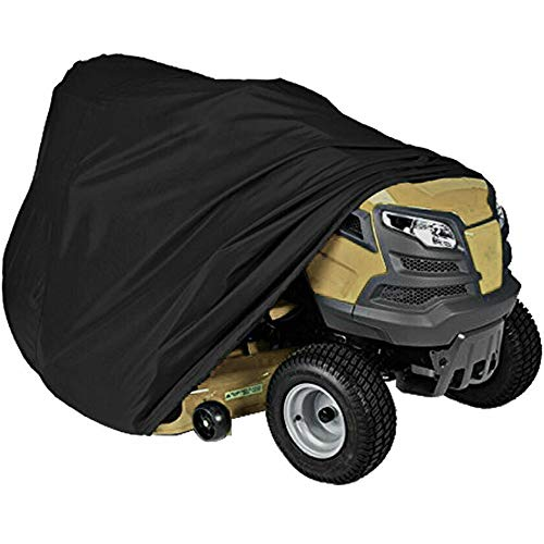 Tractor Cover Waterproof Riding Lawn Mower Cover Heavy Duty Water Sun Resistant Garden Tractor Lawn Mower Cover with Zipper Bag Size L72 xW55 xH47 in