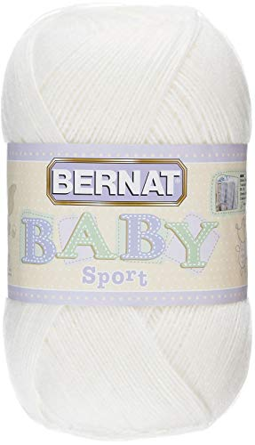 Bernat Baby Big Ball Sport Yarn, 12.3 oz, Gauge 3 Light, 100% Acrylic, Baby Ecru