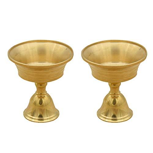 YOBAIH Candelabri 2pcs Brass Candle Holder Home Decor Arte e Mestieri (Color : Golden)
