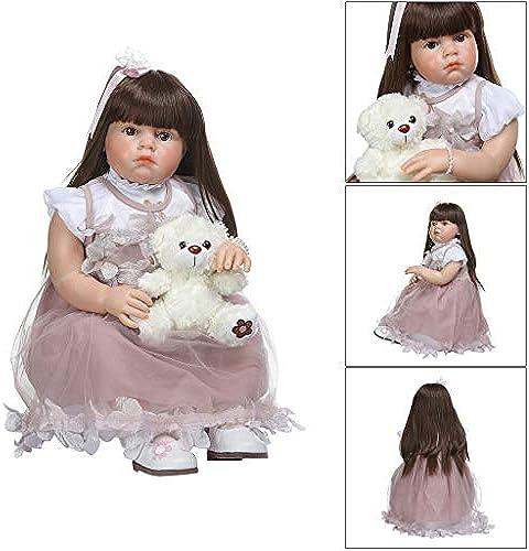 Realistische Reborn-Puppe aus Weißem Silikon und Vinyl, für Neugeborene, mädchen, Prinzessin, lebensechtes Handarbeitsspielzeug, Kindergeburtstag, Weißachtsgeschenk