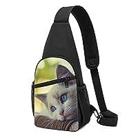 かわいい 猫柄 ボディバッグ ショルダーバッグ 斜めがけバッグ ワンショルダーバッグ ボディーバッグ メンズ メンズ