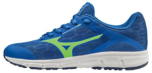 Mizuno Synchro Jr, Zapatillas de Running para Niños, Azul (Nautical Blue/Green Gecko/Blue Depths), 32.5 EU