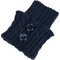 SELUXU 1 Pares de Mujeres de Invierno Calentadores de piernas Calientes Botas Cortas Calcetines Calcetines de Ganchillo