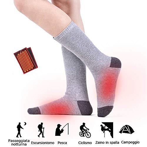 Lixada draadloze batterij verwarmde sokken elektrische oplaadbare warmte-sokken kit motorfiets ijsvissen skiën katoen dikke warmtesokken batterijaangedreven warme sokken