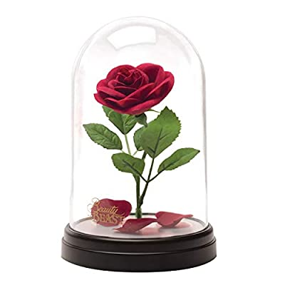 Beauty and the Beast Enchanted Rose Light | Rose In A Glass Dome | Iconic Disney Night Light Mood Lamp | Dual Powered USB Or Battery | Touch Activated On/Off | Ideal For Home, Office, Kids Bedrooms