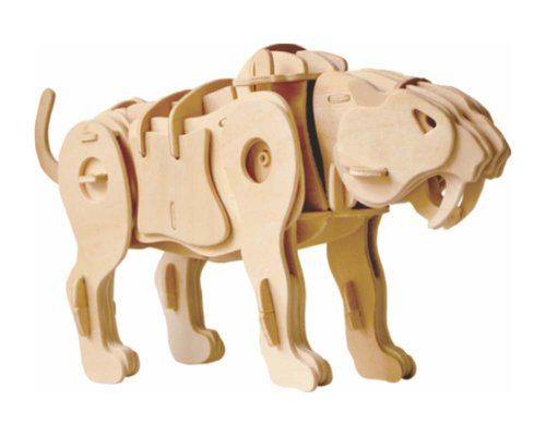 Robo Time A410 75 pezzi Saber Toothed Tiger dinosauri 3D Puzzels