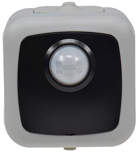 Bewegungsmelder für Aussen IP44 Sensor 120° Erfassung 6m Reichweite Aufputz-Bewegungsmelder für Garage Keller Hauseingang 2-500W LED geeignet Aufputz Zeit Regelbar Grau