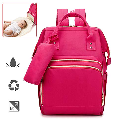 Baby Changing Bag, USB opladen Handige Waterdichte Luiertas Rugzak, Grote Capaciteit Met wandelwagen riemen