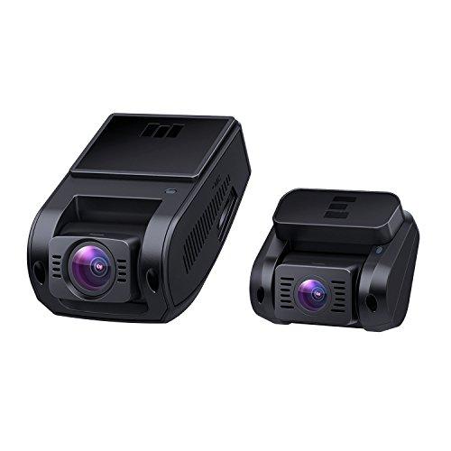 ドライブレコーダー AUKEY 前後カメラ ドラレコ 前後1080P 200万画素 フルHD 駐車監視 170°広視野角 SONYセンサー WDR 2年保証 LED信号対策済み ループ録画 緊急録画 動き検知 タイムラプス 目立たず式 DR02D