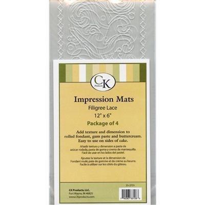 Fondant Impression -Filigree Lace- tapis Par Paquet de 4 Atlanta Cake \