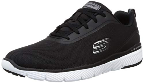 Skechers Herren Flex Advantage 3.0 Landess Sneaker, Schwarz/Schwarz, 39 EU