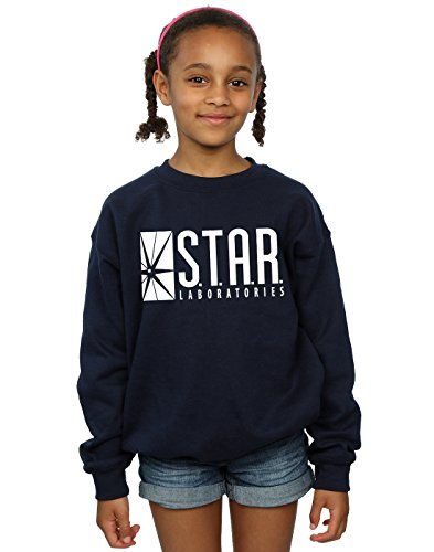 DC Comics Mädchen The Flash Star Labs Sweatshirt 7-8 Years Marine