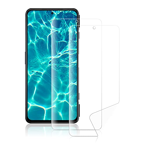 ROVLAK Schutzfolie für Xiaomi Black Shark 4 Hydrogel Flex Folie Vollständige Deckung Weiche HD Anti-Fingerprint Hohe Empfindlichkeit Bildschirmschutzfolie für Xiaomi Black Shark 4 [2-Pack]