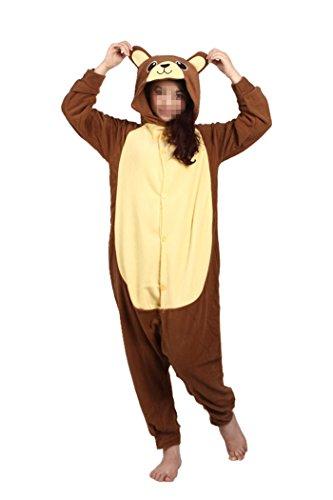 WOTOGOLD Animal Cosplay Costume Bear Unisex Adult Pajamas ,X-Large,Brown Bear