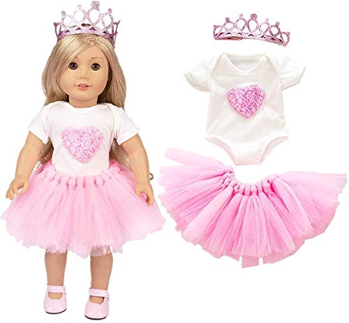 Miotlsy Puppenkleidung Kleider für 40cm-46cm Puppen und 16-18 Zoll Americal Girl Dolls Traumkleid Bekleidung Blumenkleid Sommerkleid Puppenkleider Puppenkleidung Set