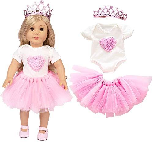 WENTS Puppenkleidung Kleider für 40cm-46cm Puppen und 16-18 Zoll Americal Girl Dolls Traumkleid Bekleidung Blumenkleid Sommerkleid Puppenkleider Puppenkleidung Set
