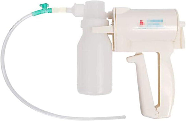 Bomba de succión manual manual portátil de mano ayuda bomba de succión dispositivo de ayuda esputo con 20 mangueras suaves para el hogar anciano