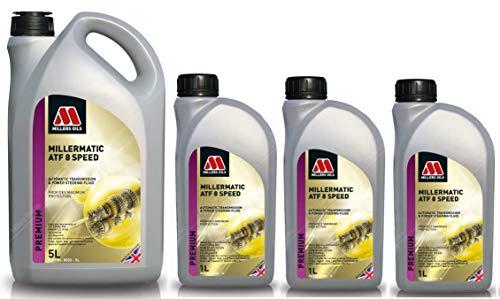 Millers Oils Liquide de transmission automatique Millermatic ATF 8 vitesses, 8 litres