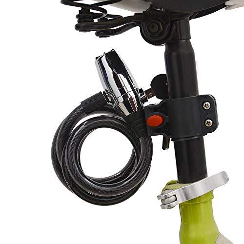 KX-YF Bloqueo de Ciclismo Cerraduras de Bicicletas con el Cable for el...