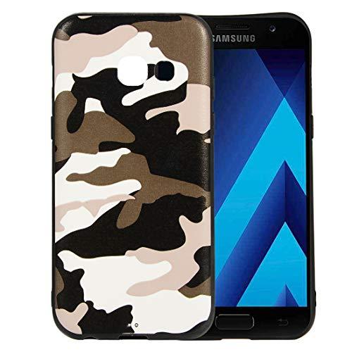 SsHhUu Funda Galaxy A3 2017, Camuflaje Grano Moda Tendencia Diseño Suave Delgado TPU Funda Protección total del cuerpo Espalda Cover para Samsung Galaxy A3 2017 / A320FL / A320Y/DS (4.7