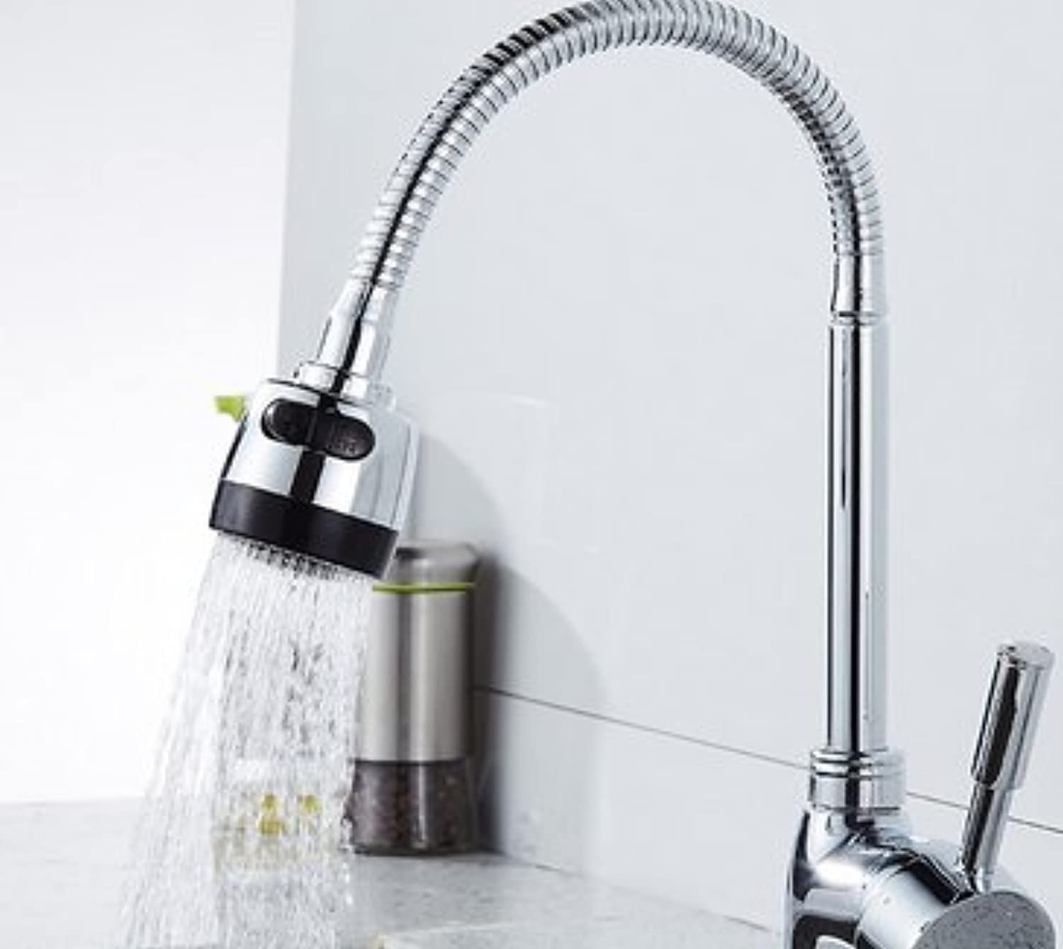 Retro Deluxe Faucetinging 360 Degree Steering Kitchen Faucet Cold and Hot Kitchen Tap Single Hole Water Tap Kitchen Bathroom Faucet,Silver