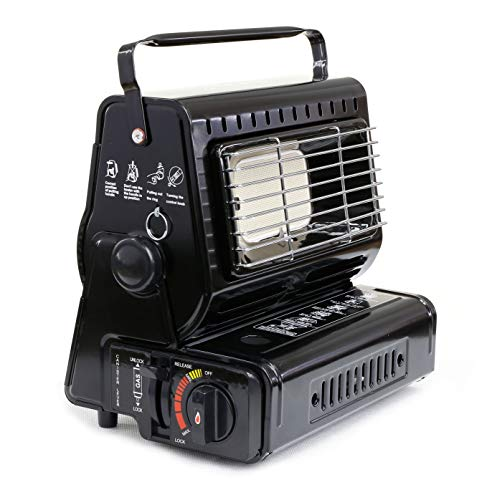 NJ Portable Compact Mobile Gas Heater Caravan Outdoor Camping Fishing Butane 1.3kW