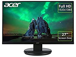 27 Inch screen: The 27 Inch screen offers additional real estate for added productivity or a more immersive multimedia experience Full HD: The Full HD resolution (1920 x 1080) ensures that everything will appear sharp and clear, good for documents or...