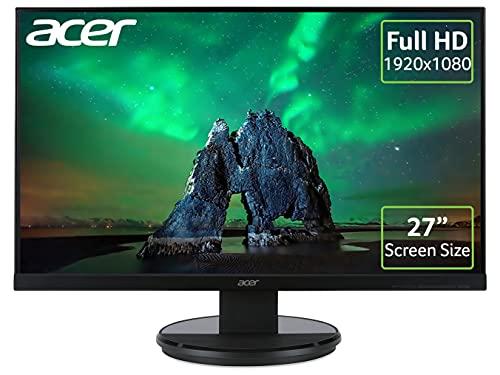 Acer K272HLEbid 69 cm (27 Zoll Full HD) Monitor (VGA, DVI, HDMI, 4ms Reaktionszeit) schwarz