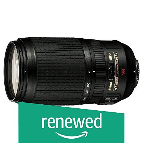 Nikon AF-S Zoom-Nikkor - Objetivo (70-300 mm, 1:4,5-5,6G, Rosca de Filtro de 67 mm, estabilizador de Imagen) (Reacondicionado)