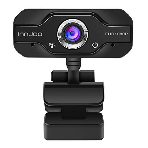 Webcam Full HD 1920 x 1080/30fps - Enfoque Fijo - Sensor Imagen SOI 2.0 - USB 2.0 - Cable 1.3M, Negro