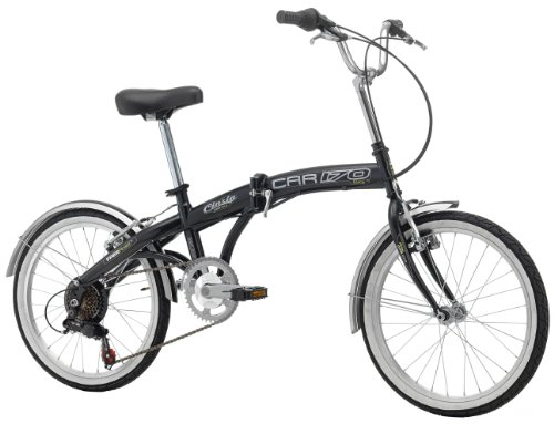 Cinzia Klapprad Car-Bike 6-Gang Shimano, schwarz, Rahmenhöhe: 29 cm, Reifengröße: 20 Zoll (51 cm), 871831