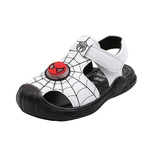 DTZW Sandalias para niños y niñas al aire libre, senderismo, deportes, piscina, playa, verano, zapatos de agua (tamaño: 29, color: A-blanco)