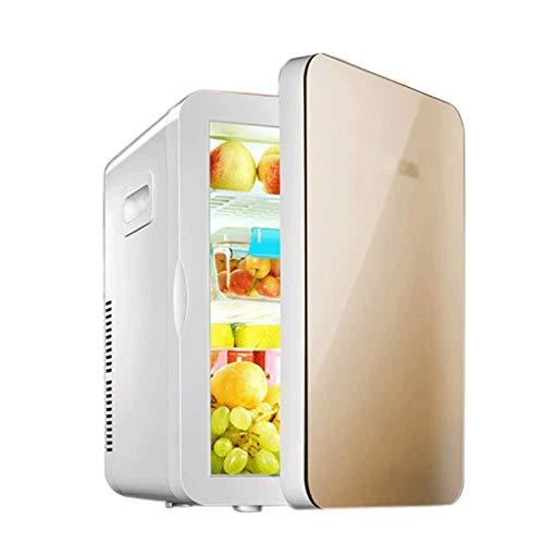 NXYJD Mini-Kühlschrank mit Gefrierfach für Schlafzimmer, Büro oder Wohnheim mit verstellbarem Glasfach Kompakter Kühlschrank