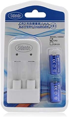 Recargable 15270 CR2 3V doble ranura cargador CR2 baterías Lipo 200mAh Conjunto 2 un