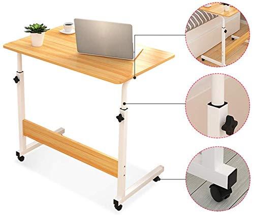 LY88 Verstelbare Laptop Stand Draagbare Standing Bureau met Afsluitbare Wielen Bijzettafel voor Bed Sofa Ziekenhuis Lezen Eten Winkelwagentje, Geel